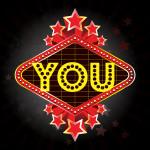 YOU emblem stars--3104-vintage